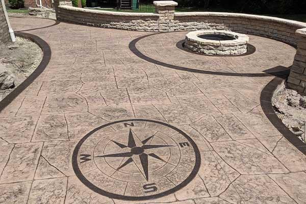 بتن استامپی Stamped Concrete