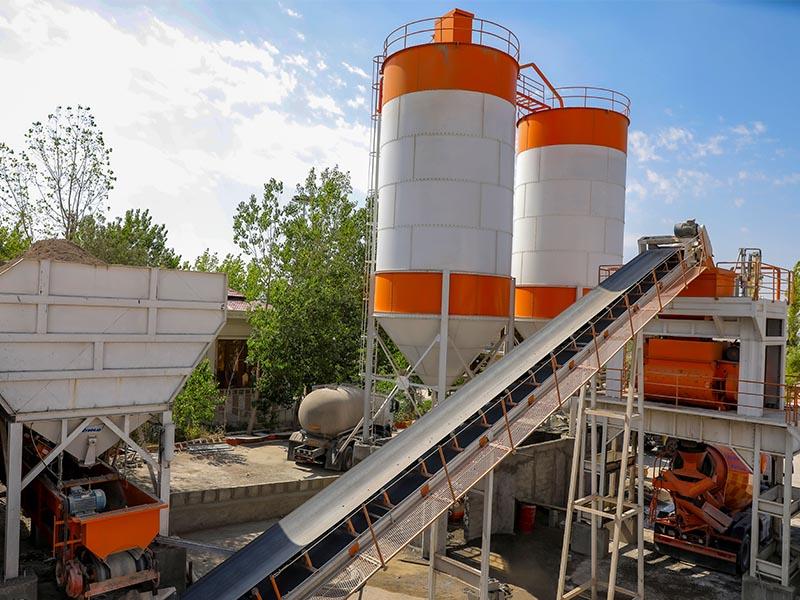 تولید بتن آماده در کارخانه بتن